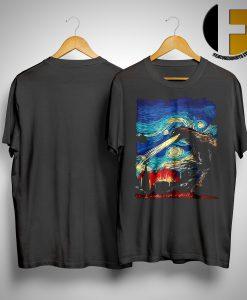 Van Gogh Godzilla Painting Shirt