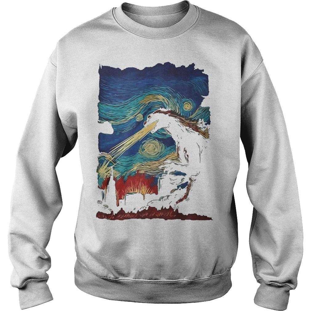Van Gogh Godzilla Painting Sweater