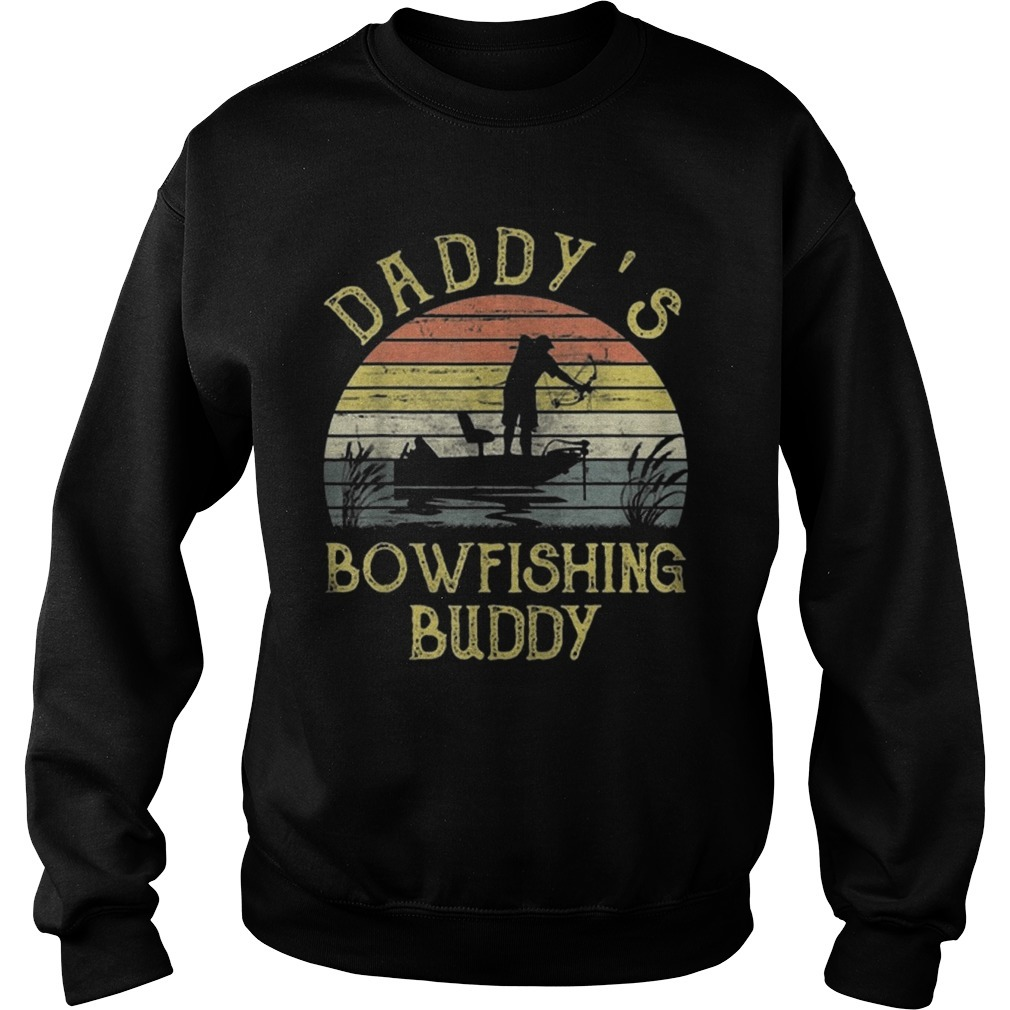 Vintage Daddy's Bowfishing Buddy Father Day Sweater