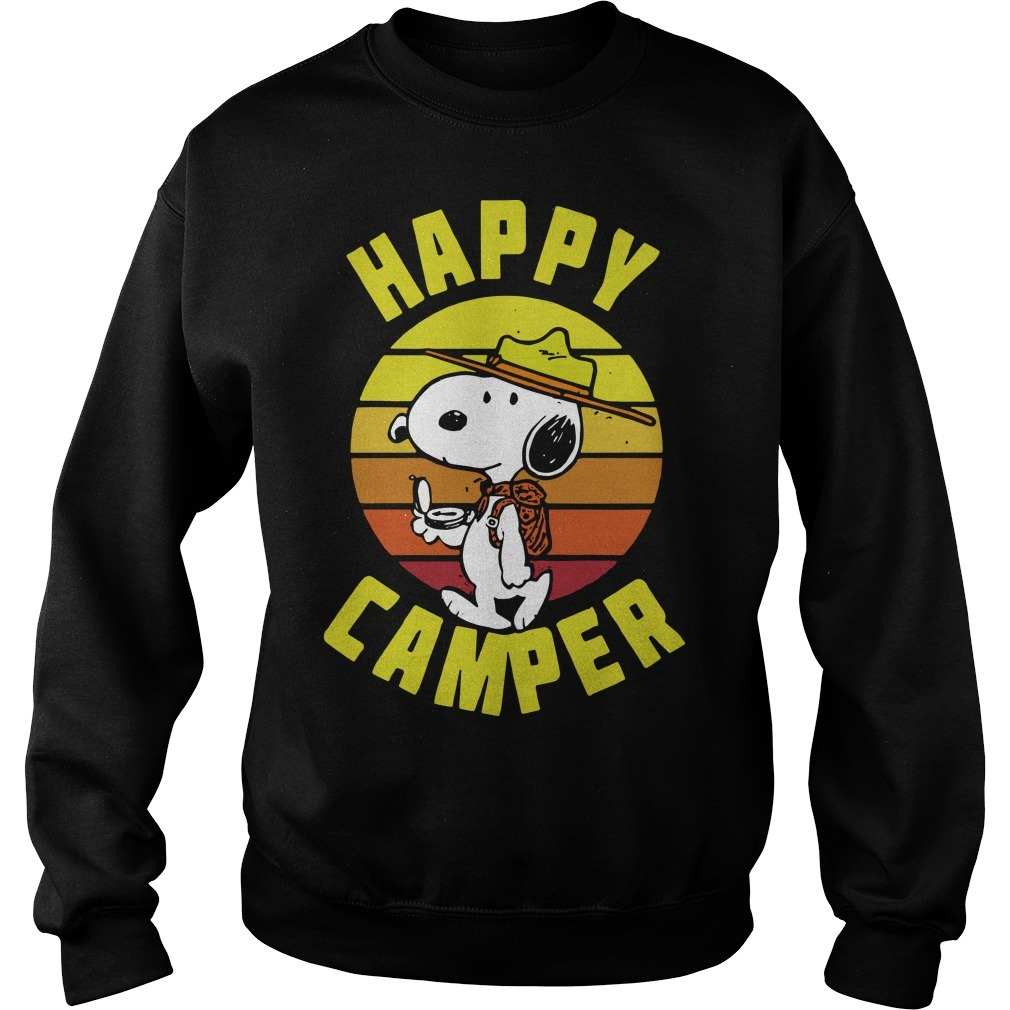Vintage Peanuts Snoopy Happy Camper Sweater