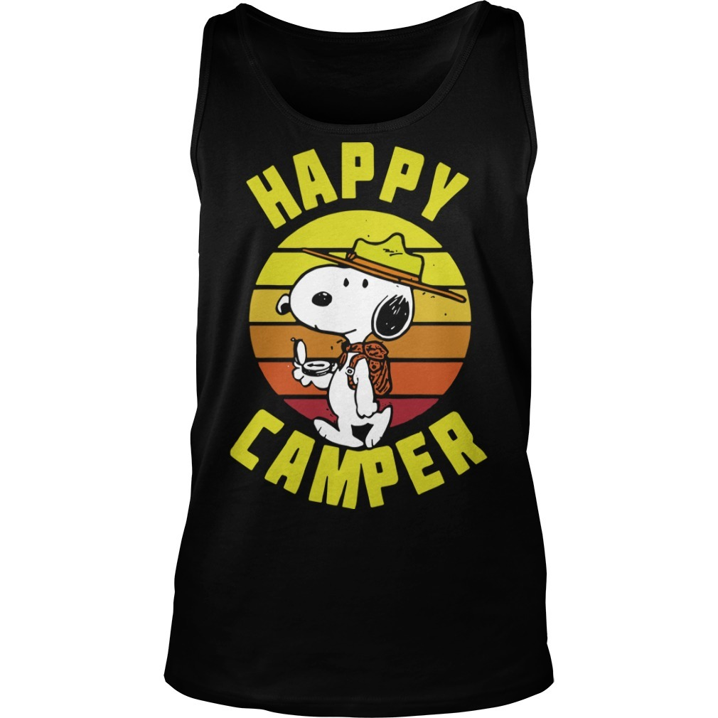 Vintage Peanuts Snoopy Happy Camper Tank Top