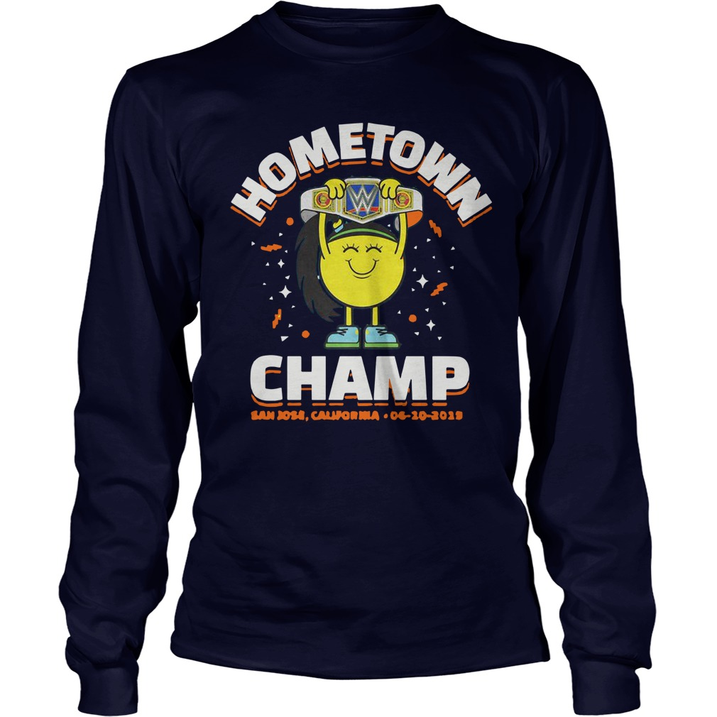 WWE Smackdown House Show Bayley Hometown Champ Longsleeve Tee