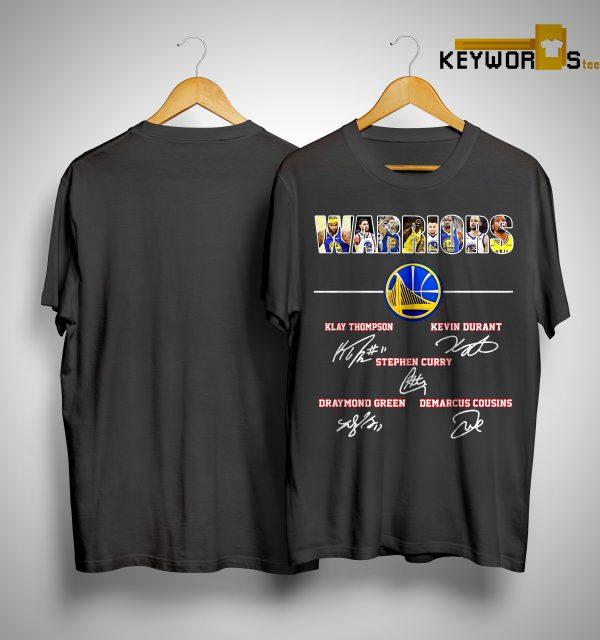 Warriors Klay Thompson Kevin Durant Stephen Curry Draymond Green Signature Shirt