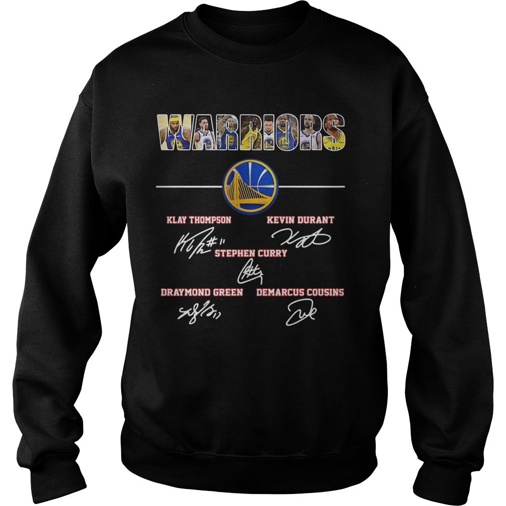 Warriors Klay Thompson Kevin Durant Stephen Curry Draymond Green Signature Sweater