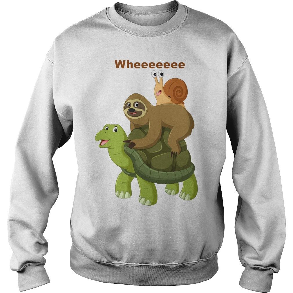 Wheeeeeee Sloth And Best Friend Turtles And Snail Sweater