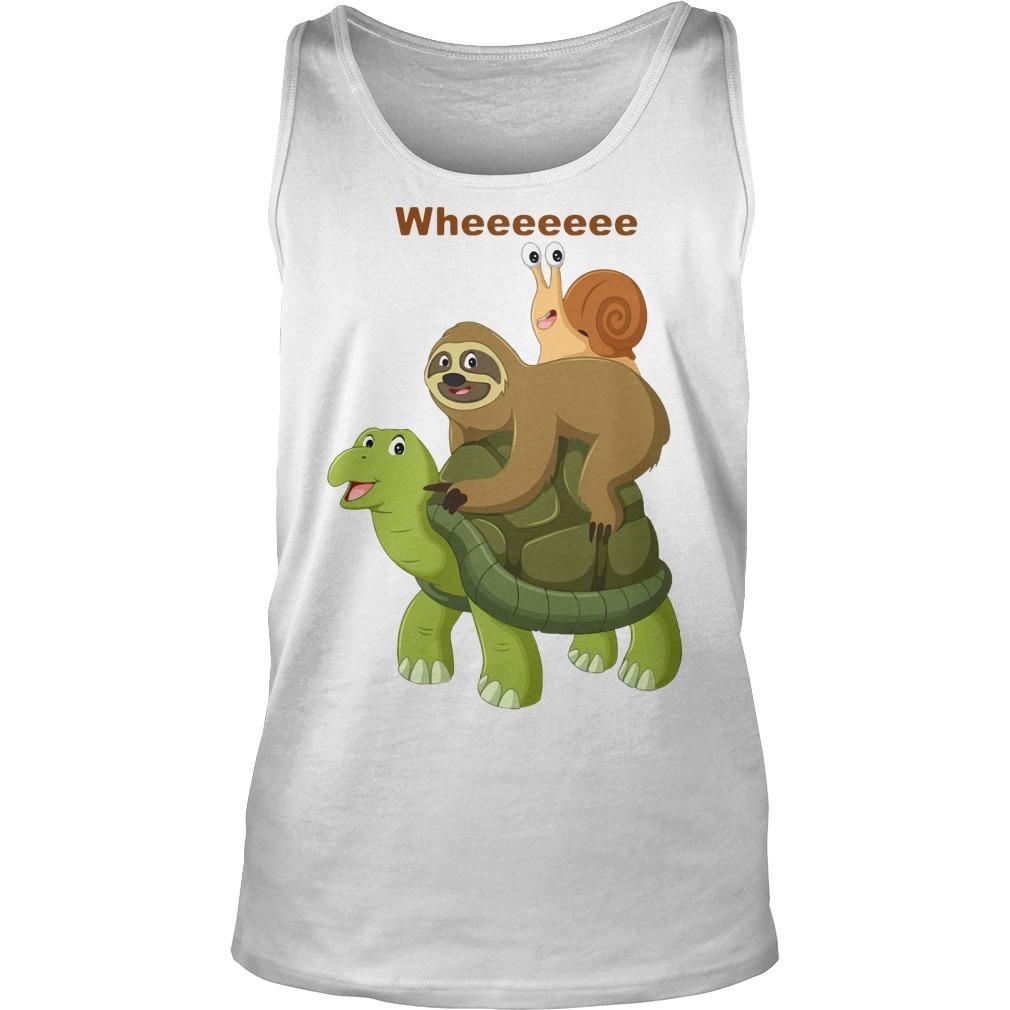 Wheeeeeee Sloth And Best Friend Turtles And Snail Tank Top