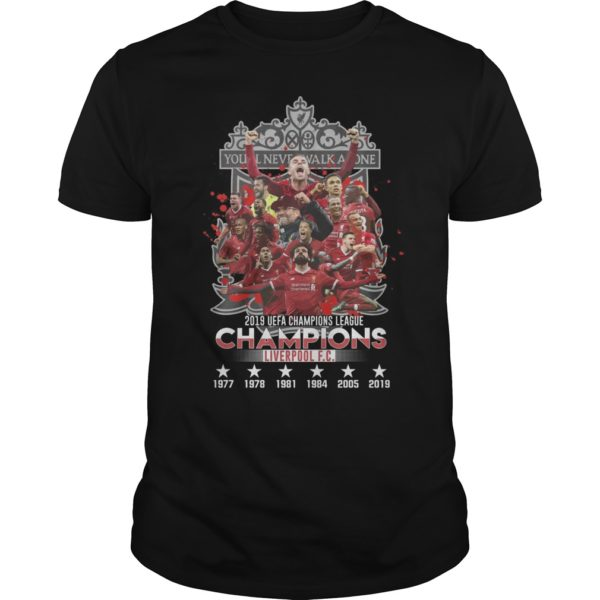 You Never Walk Alone 2019 UEFA Champions League Liverpool FC Shirt