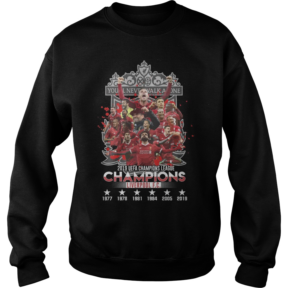 You Never Walk Alone 2019 UEFA Champions League Liverpool FC Sweater