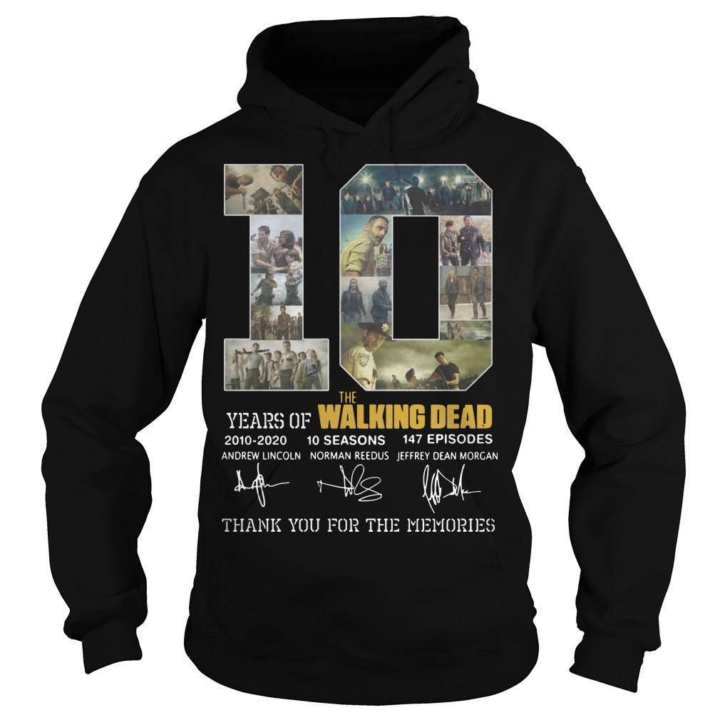 10 Years Of The Walking Dead 2010 2020 10 Seasons 147 Episodes Hoodie