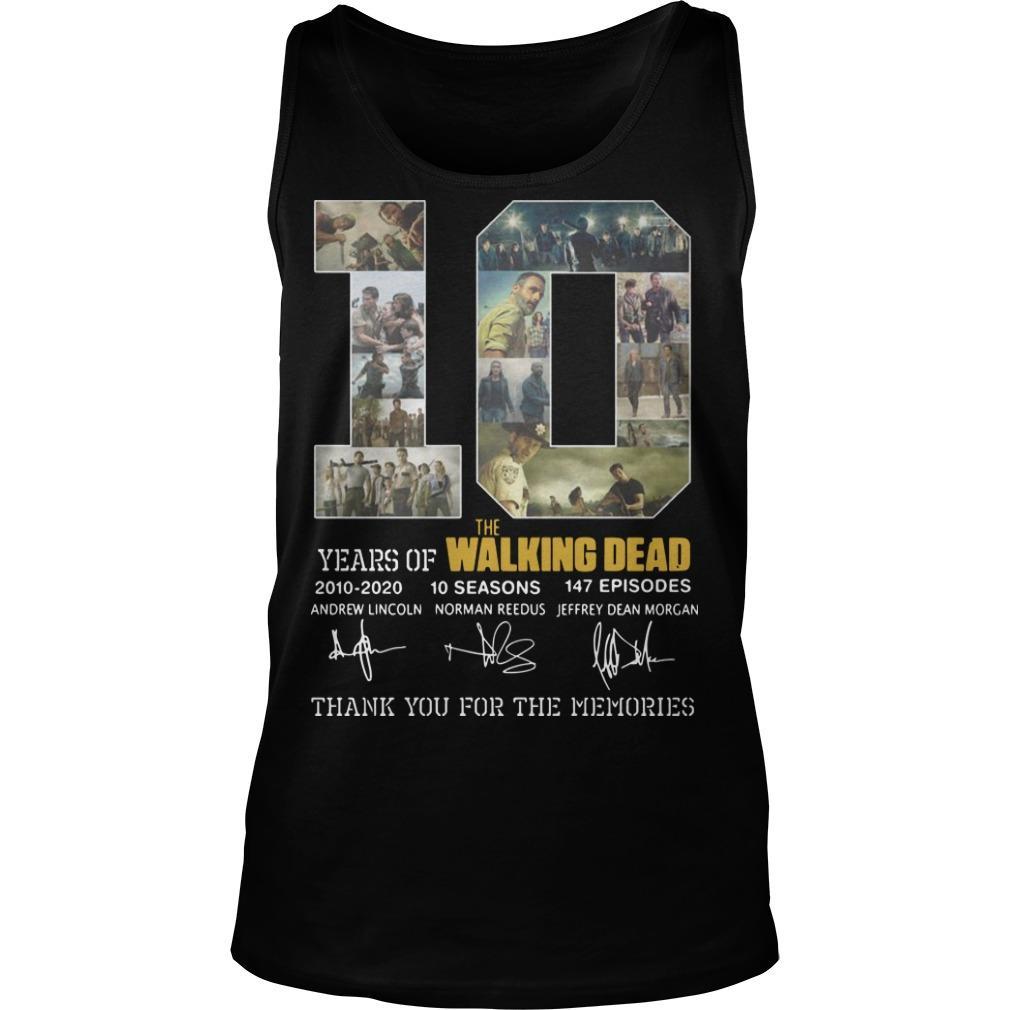 10 Years Of The Walking Dead 2010 2020 10 Seasons 147 Episodes Tank Top