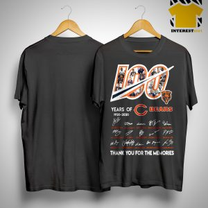 100 Years Of Chicago Bears 1920 2020 Thanks For The Memories Shirt