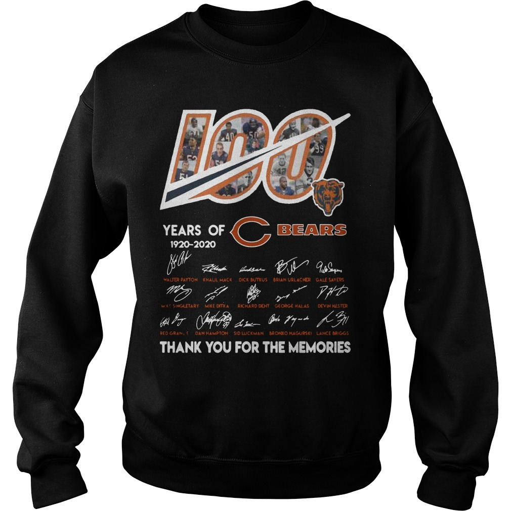100 Years Of Chicago Bears 1920 2020 Thanks For The Memories Sweater