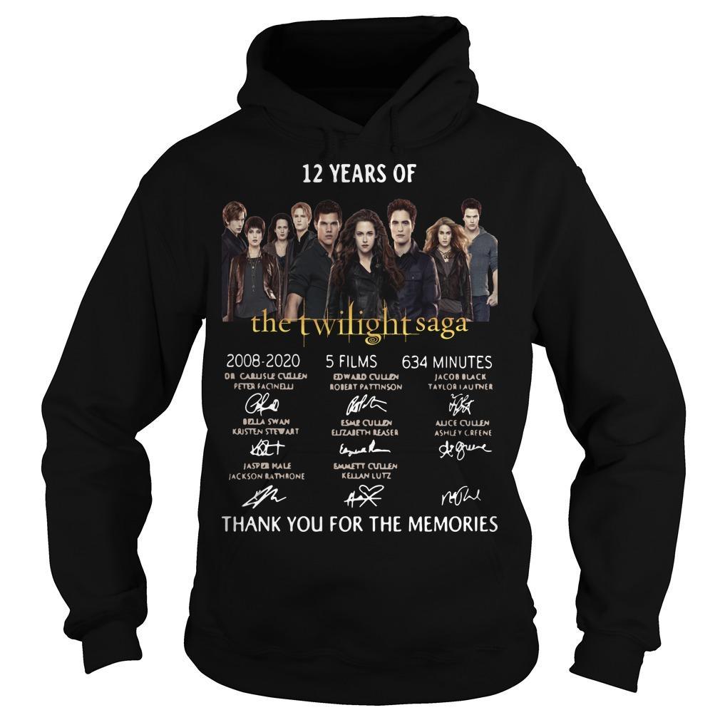 12 Years Of The Twilight Saga 2008 2020 5 Films 634 Minutes Hoodie