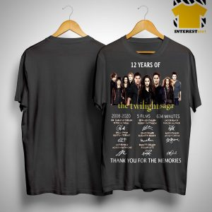 12 Years Of The Twilight Saga 2008 2020 5 Films 634 Minutes Shirt.jpg