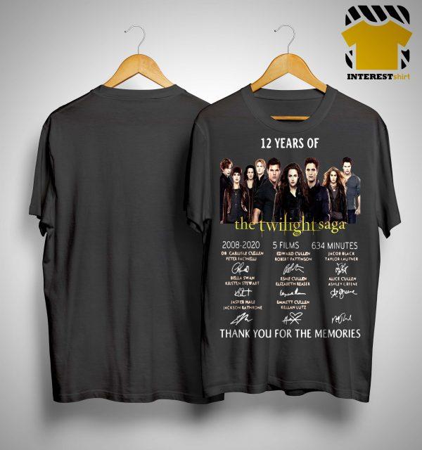 12 Years Of The Twilight Saga 2008 2020 5 Films 634 Minutes Shirt.jpg