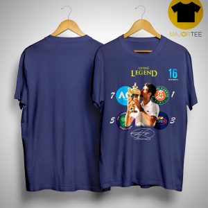 16 Novak Djokovic Living Legend Signature Champion Wimbledon 2019 Shirt