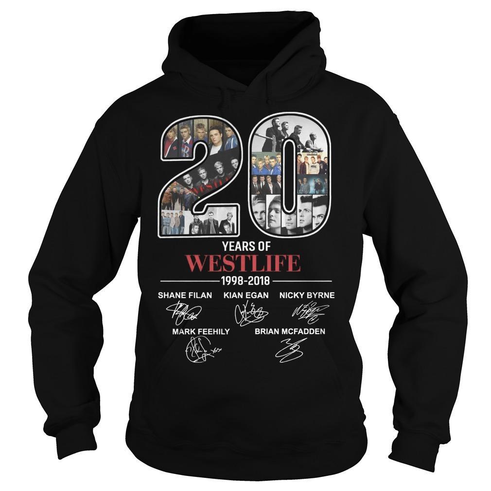 20 Years Of Westlife 1998 2018 Hoodie