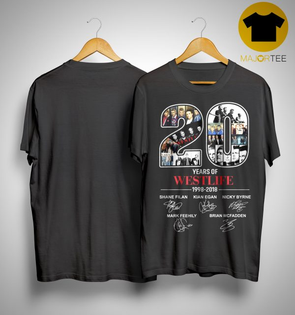 20 Years Of Westlife 1998 2018 Shirt