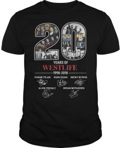 20 Years Of Westlife 1998 2018 Shirt