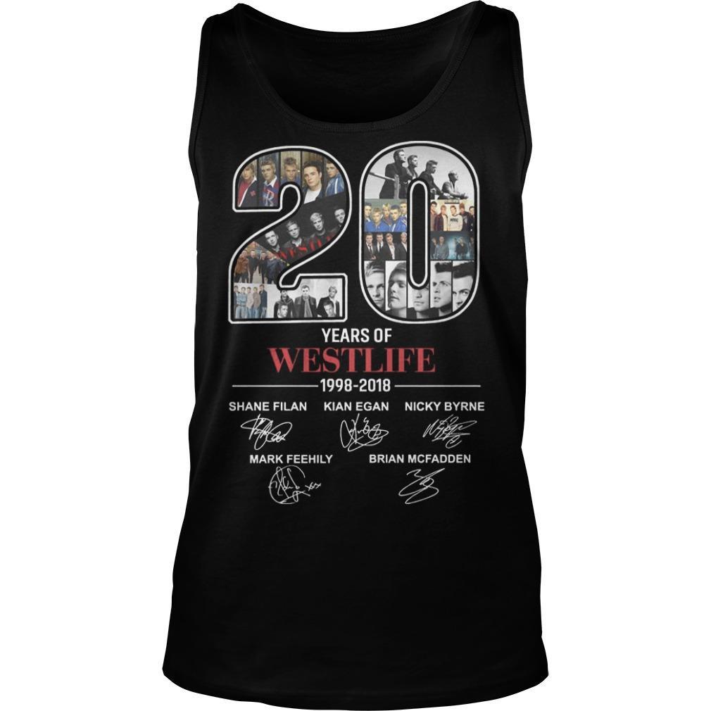 20 Years Of Westlife 1998 2018 Tank Top