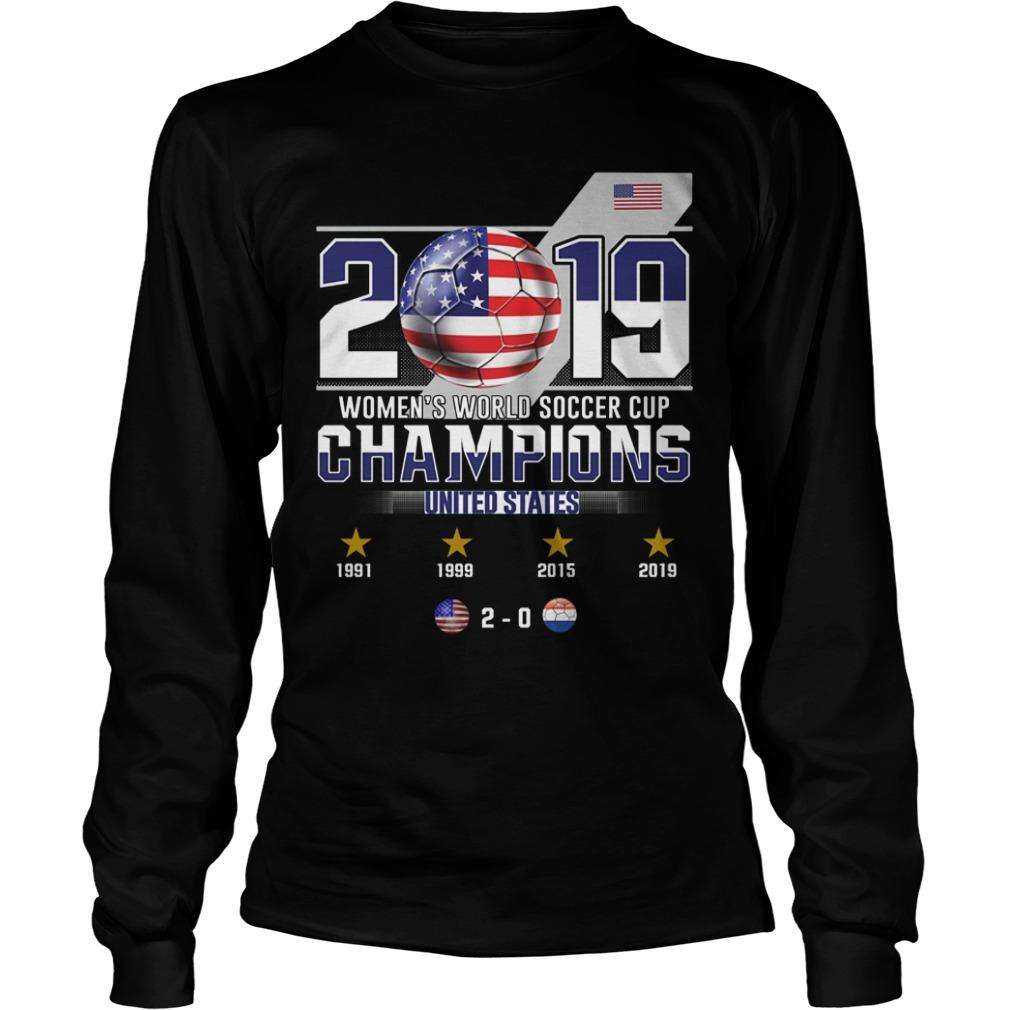 2019 Women's World Soccer Cup Champions United States Longsleeve