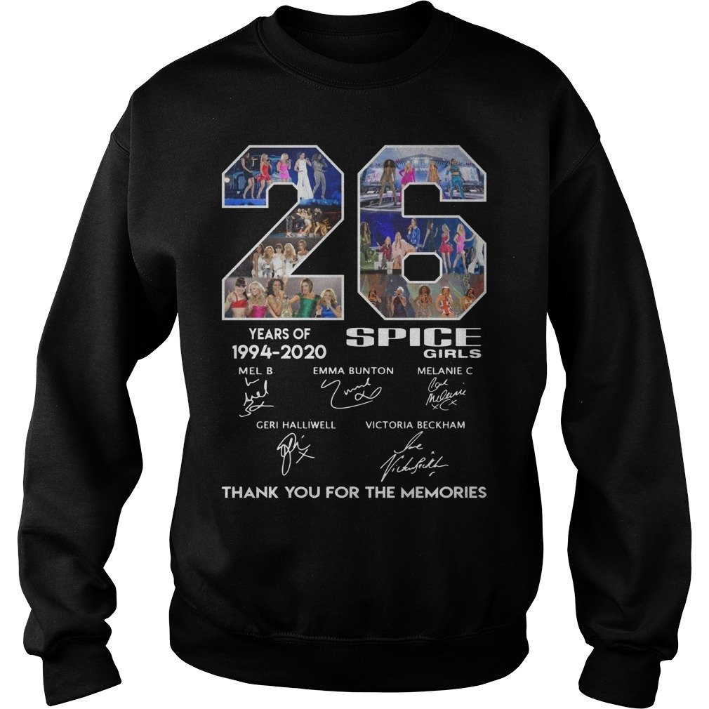 26 Years Of Spice Girls 1994 2020 Thank You For The Memories Sweater