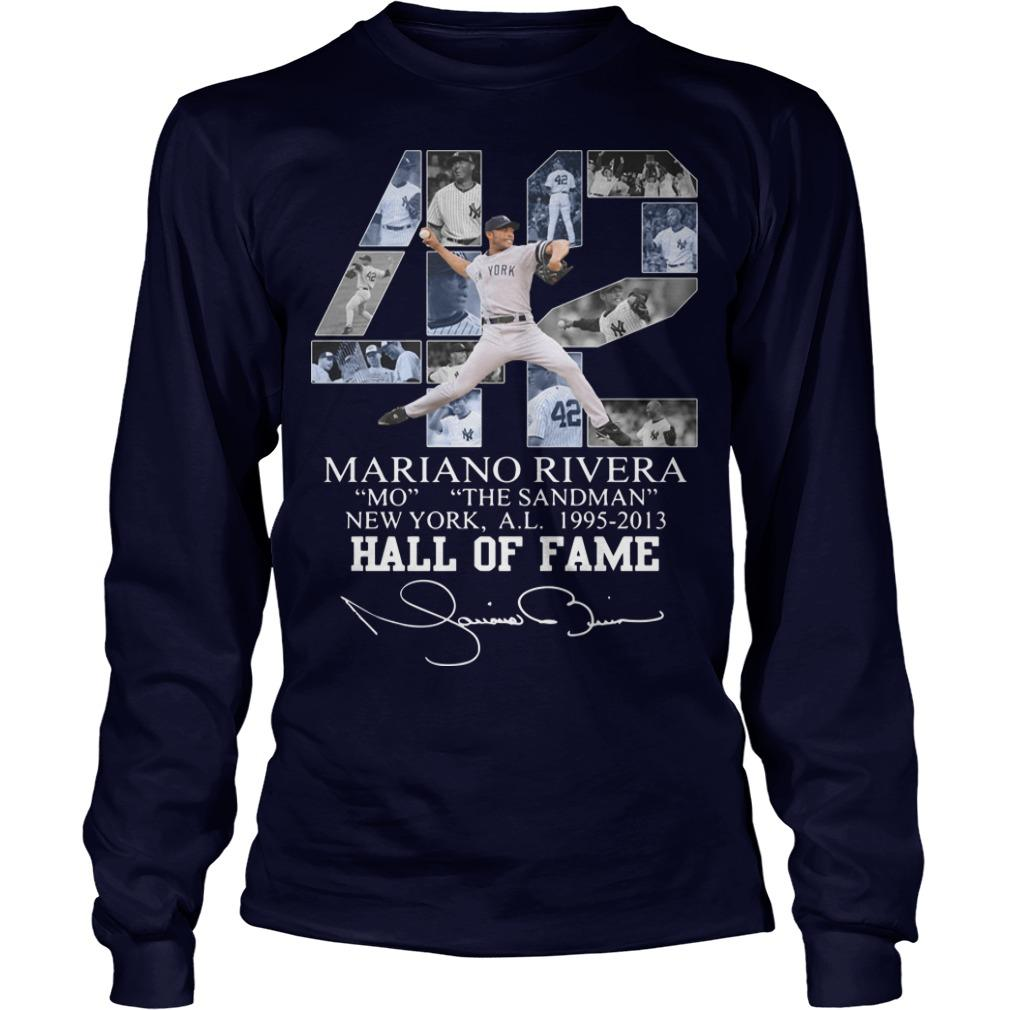 42 Mariano Rivera Mo The Sandman New York 1995 2013 Hall Of Fame Longsleeve