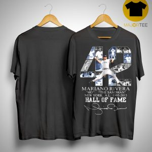42 Mariano Rivera Mo The Sandman New York 1995 2013 Hall Of Fame Shirt