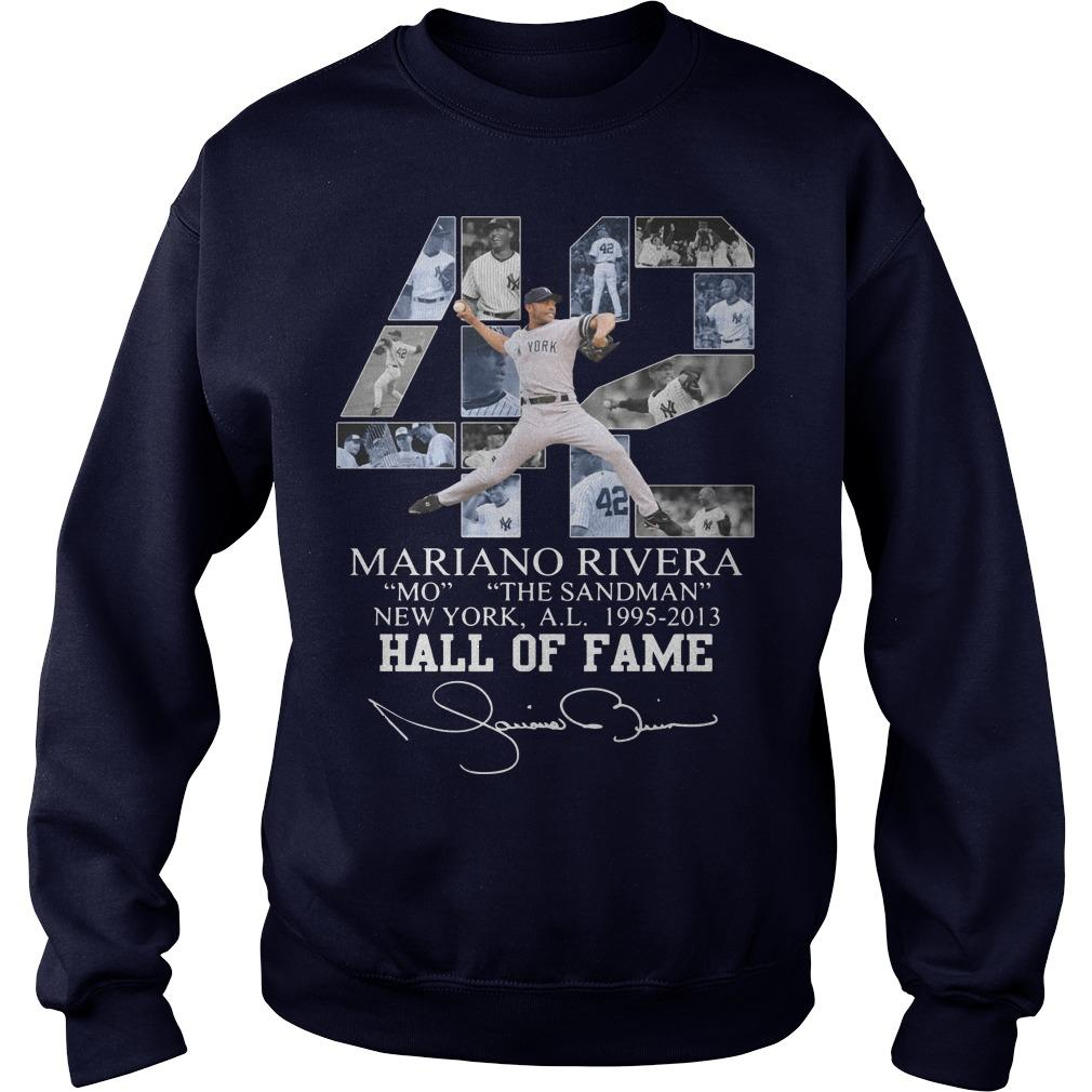 42 Mariano Rivera Mo The Sandman New York 1995 2013 Hall Of Fame Sweater