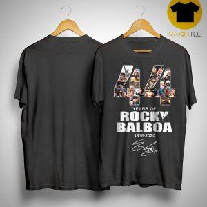 44 Years Of Rocky Balboa 1976 2020 Shirt