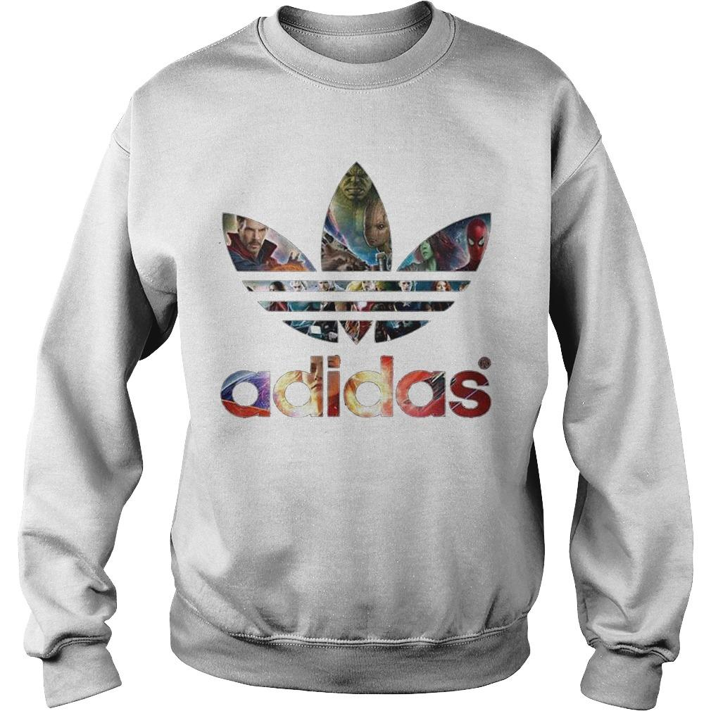 Adidas Avengers Marvel All Characters Sweater