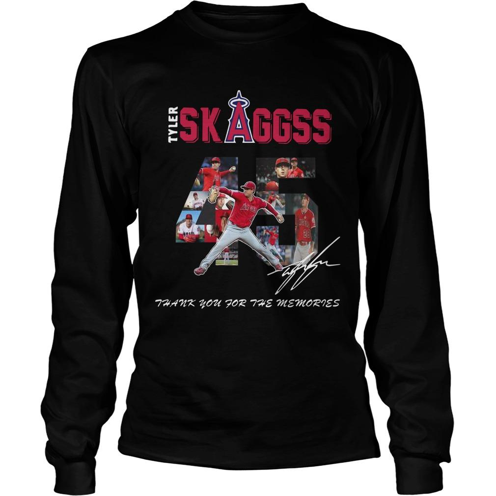 Allbluea Angels 45 Tyler Skaggs Thank You For The Memories Longsleeve