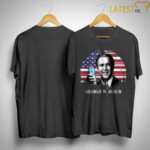 America Flag Vintage George W, Busch Shirt
