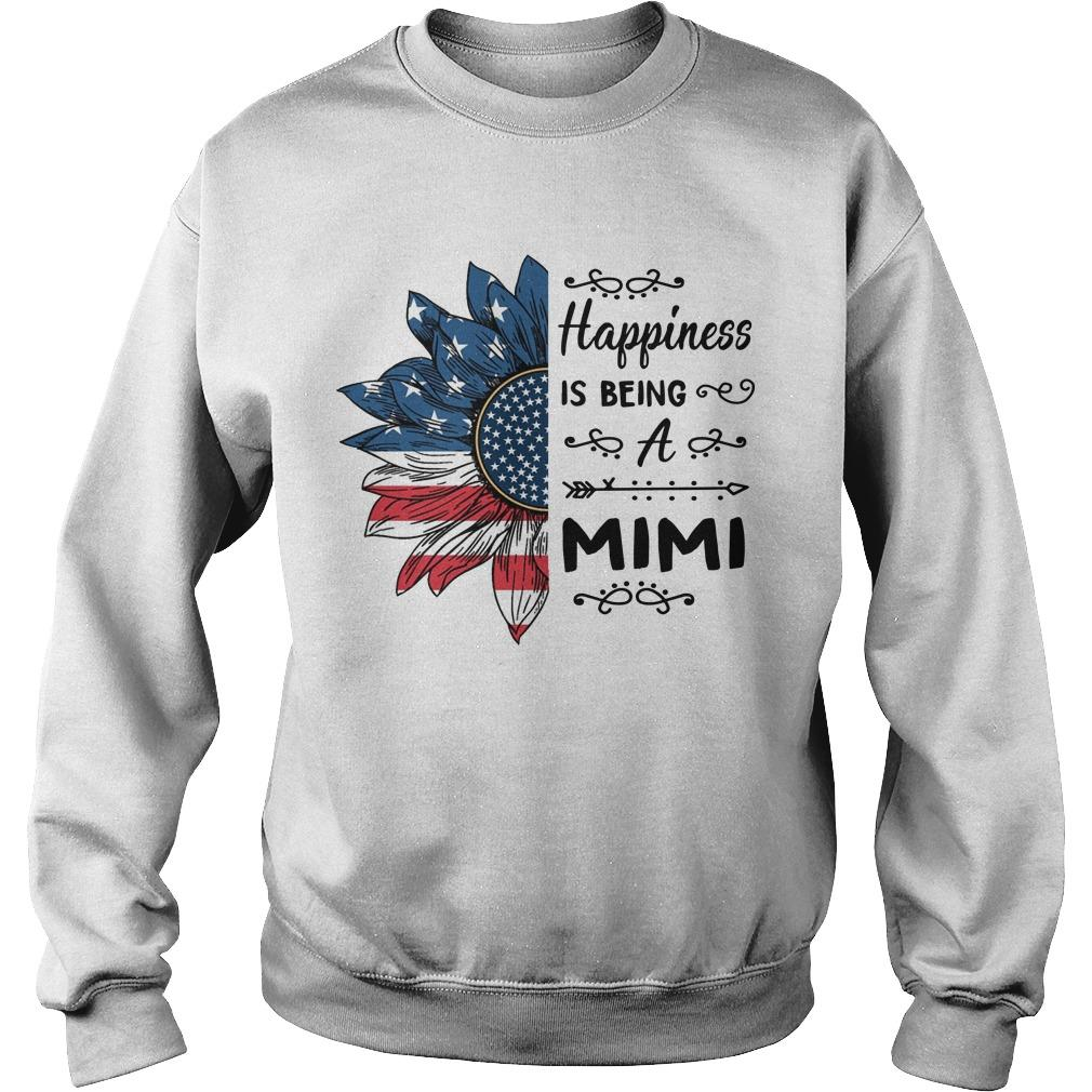 American Flag Sunflower Happiness Is Being A Mimi Sweater