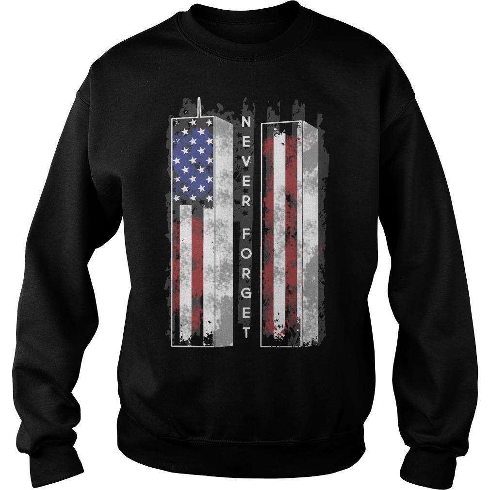 American Flag Towel Veteran Never Forget Sweater