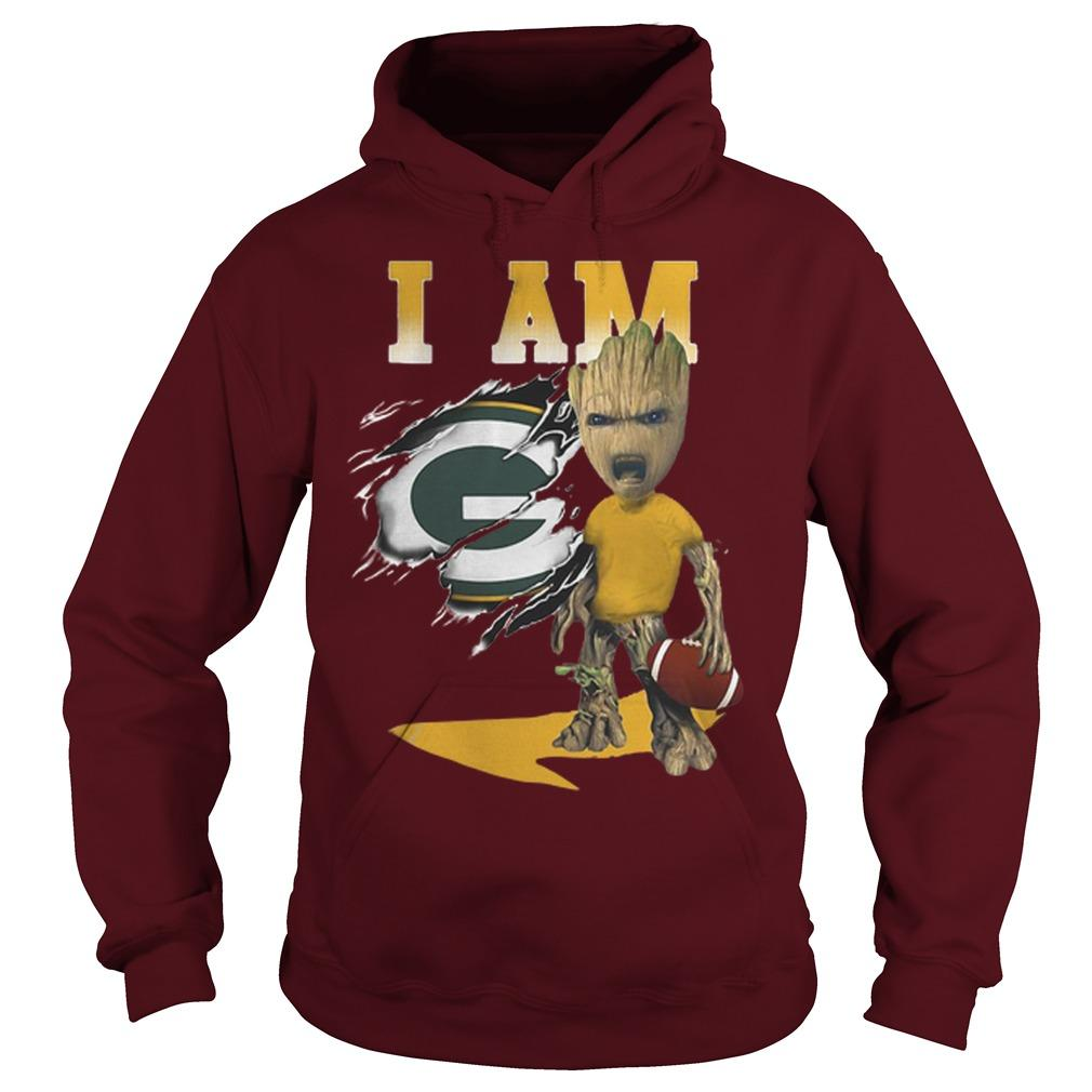 Baby Groot I Am Green Bay Packers Hoodie