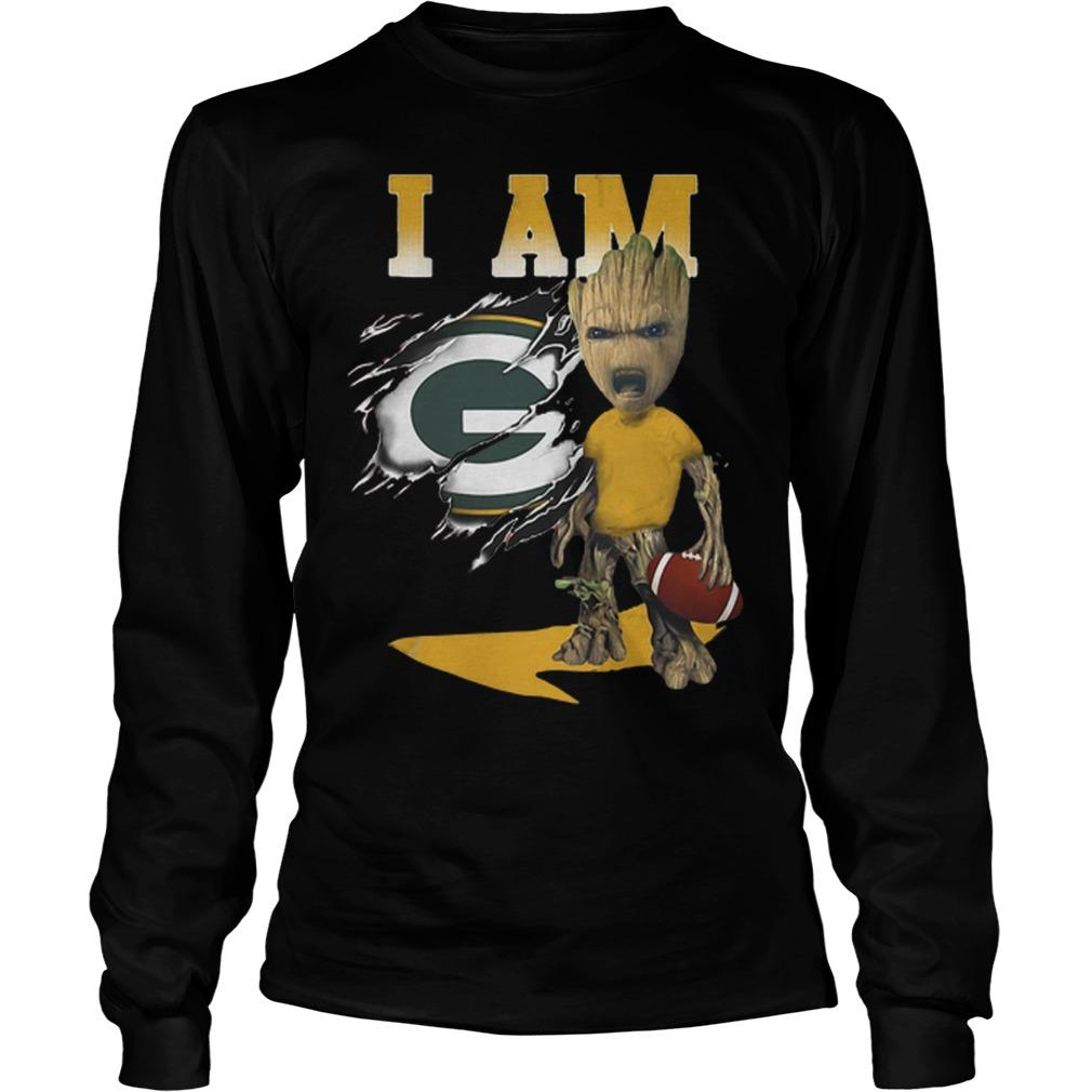 Baby Groot I Am Green Bay Packers Longsleeve