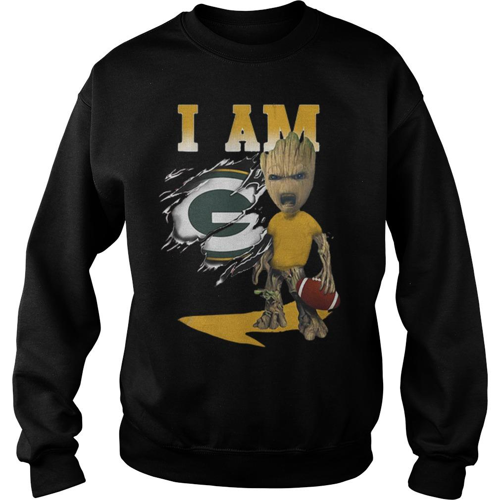 Baby Groot I Am Green Bay Packers Sweater