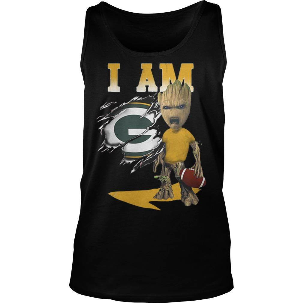 Baby Groot I Am Green Bay Packers Tank Top