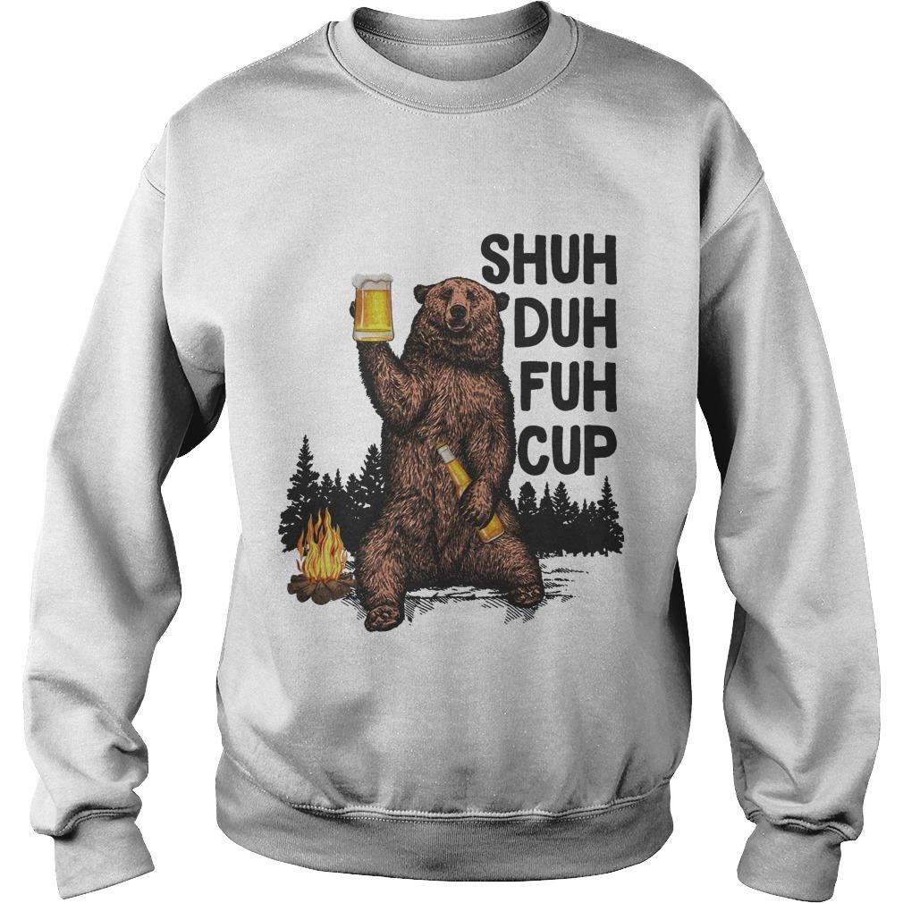 Beer Bear Shuh Duh Fuh Cup I Hate People Sweater