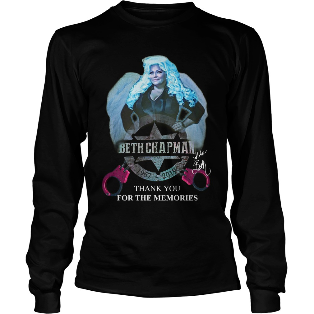 Beth Chapman 1967 2019 Thank You For The Memories Longsleeve Tee