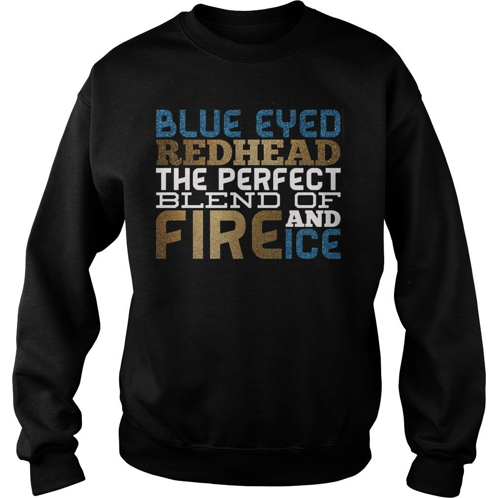 Blue Eyes Redhead The Perfect Blend Of Fire And Ice Sweater