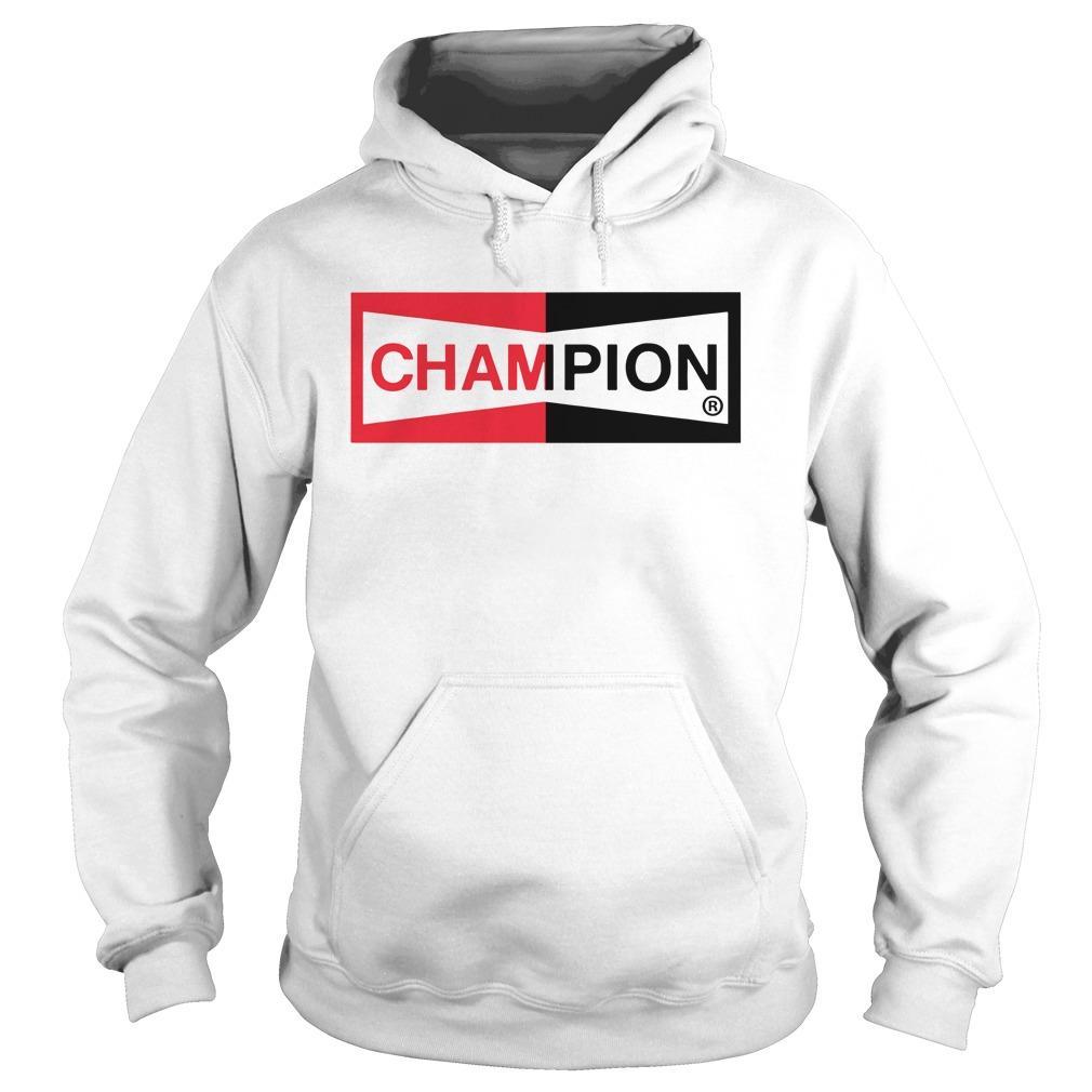 Brad Pitt Champion Logo T Hoodie