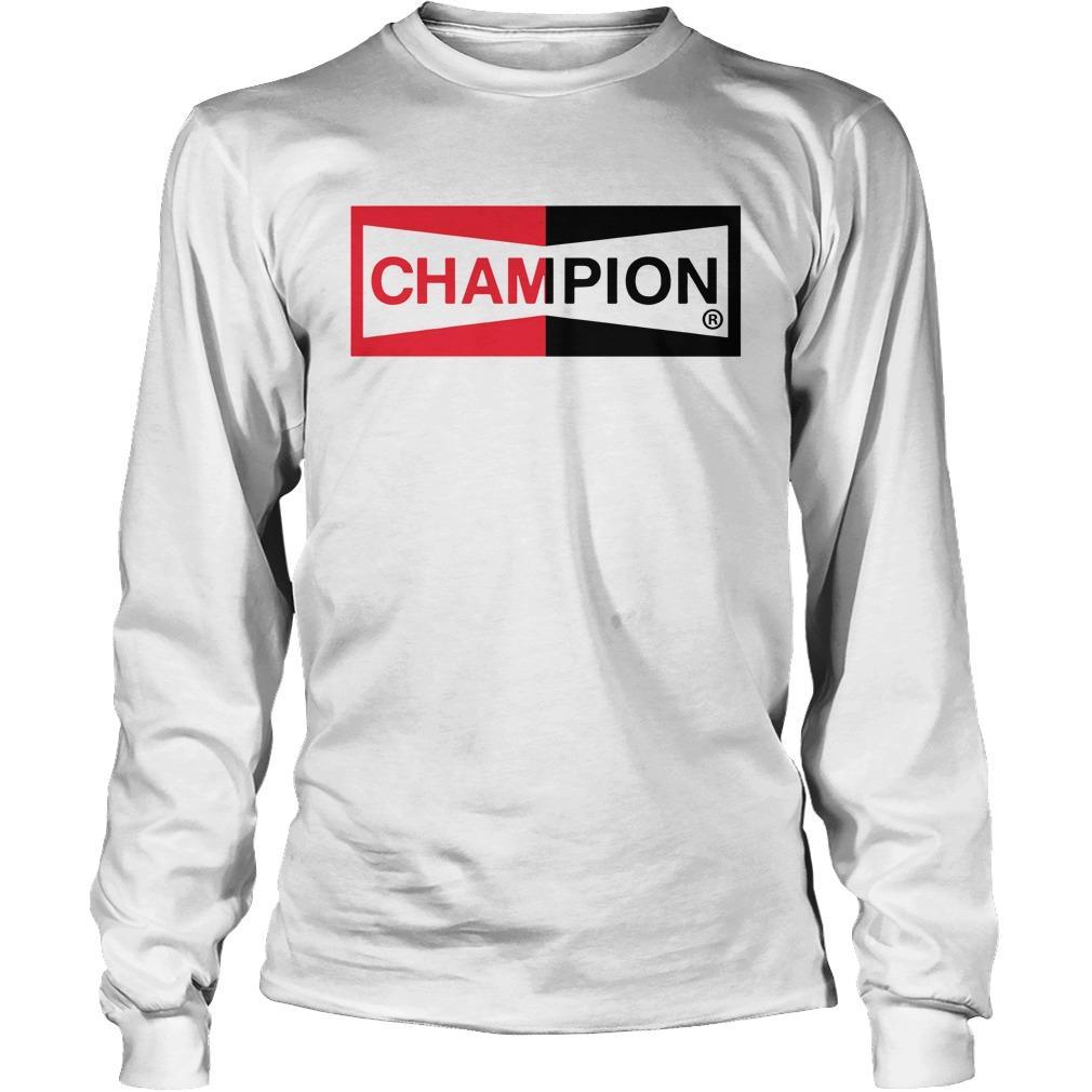 Brad Pitt Champion Logo T Longsleeve