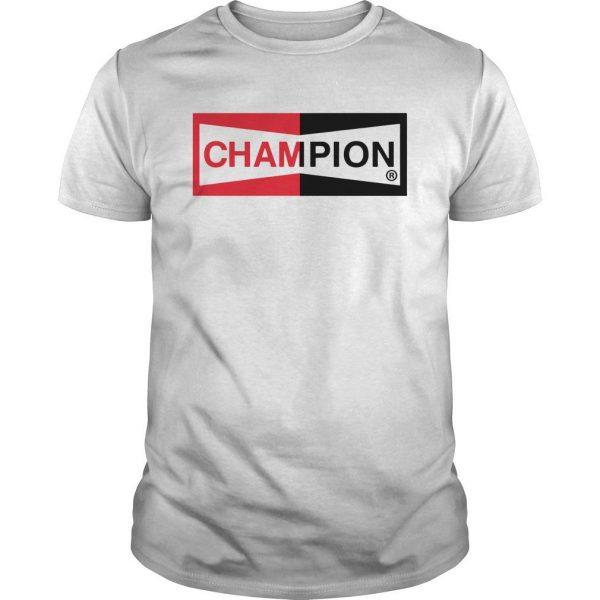 Brad Pitt Champion Logo T