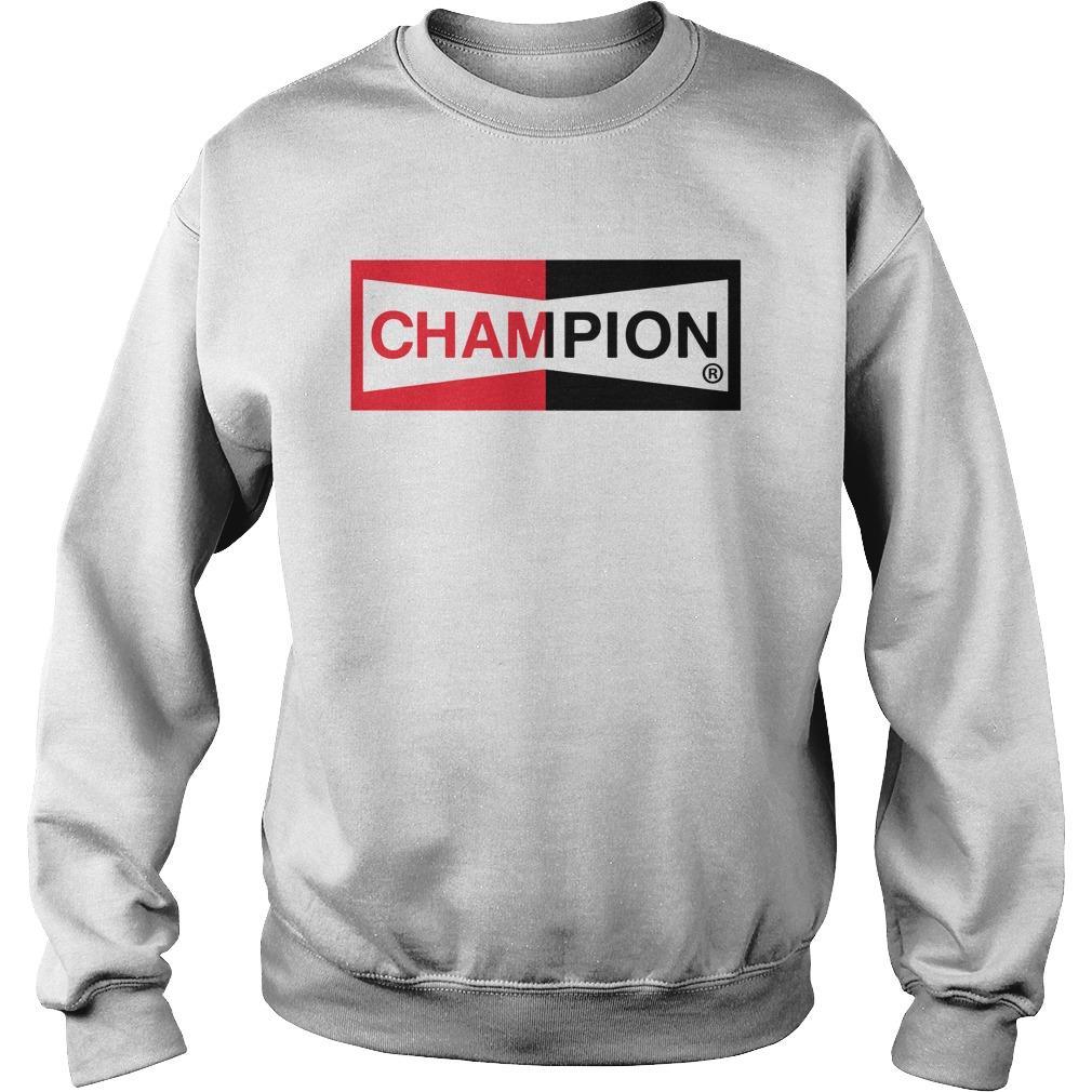 Brad Pitt Champion Logo T Sweater