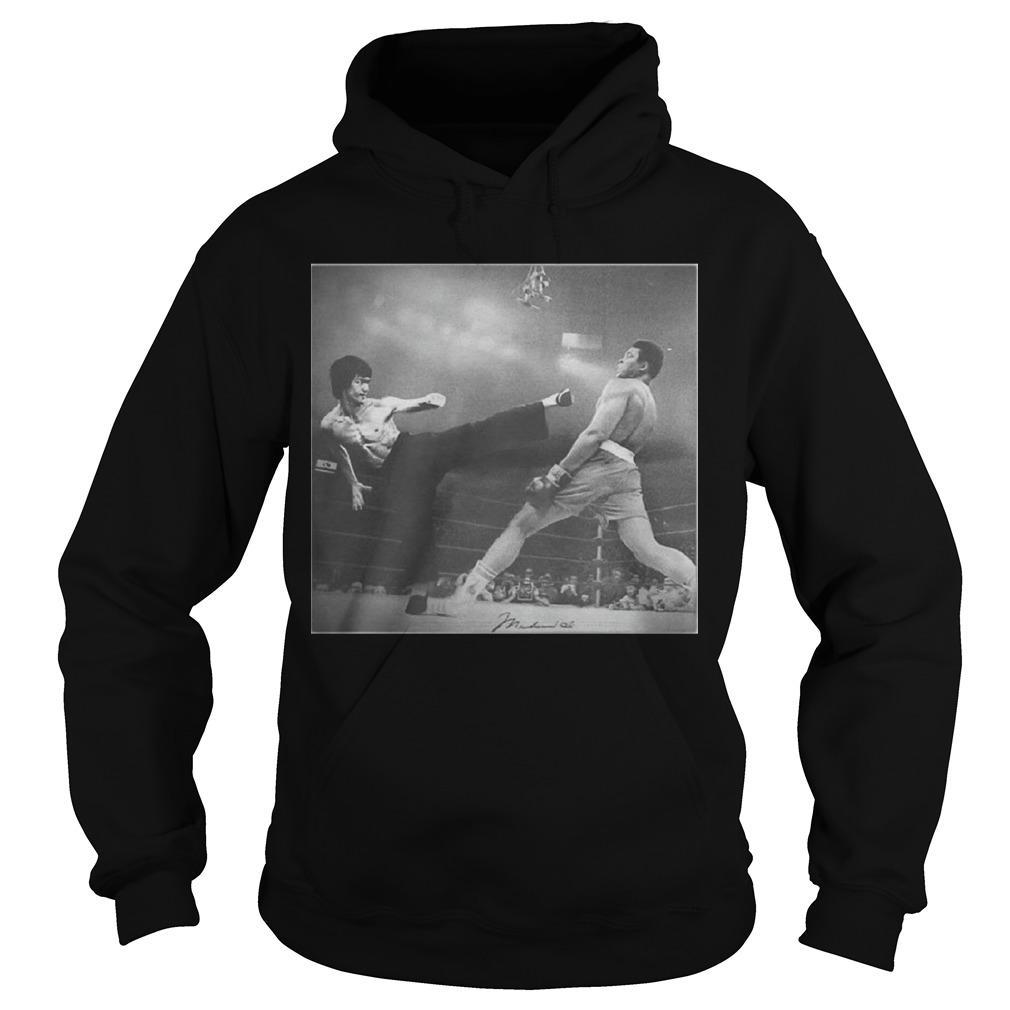 Bruce Lee Kicking Hoodie