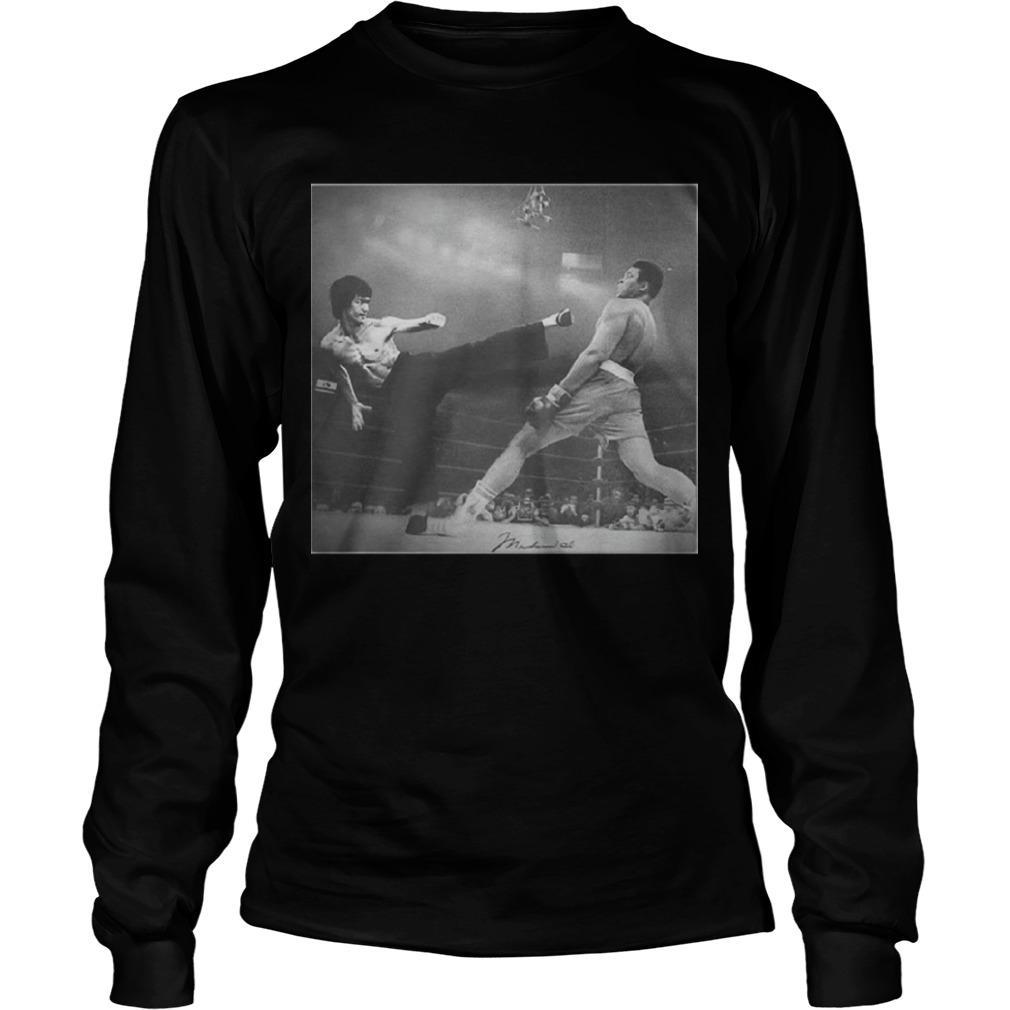 Bruce Lee Kicking Longsleeve