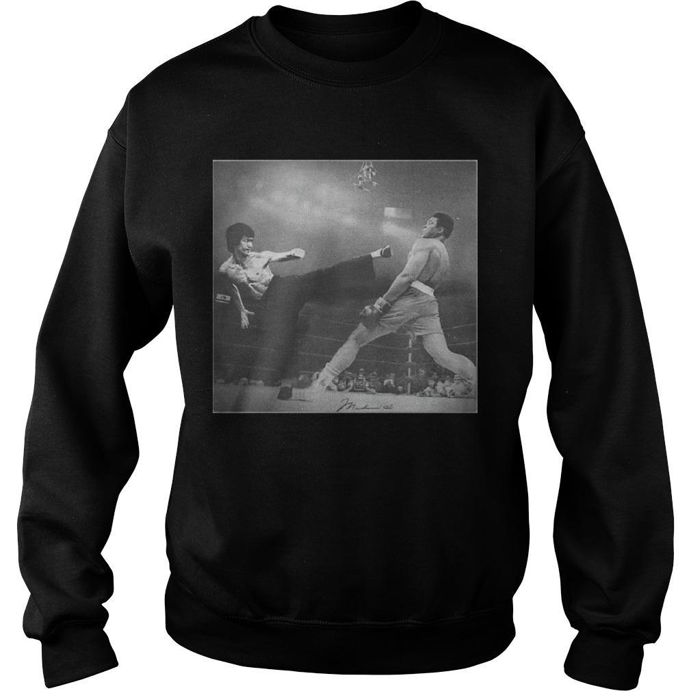 Bruce Lee Kicking Sweater
