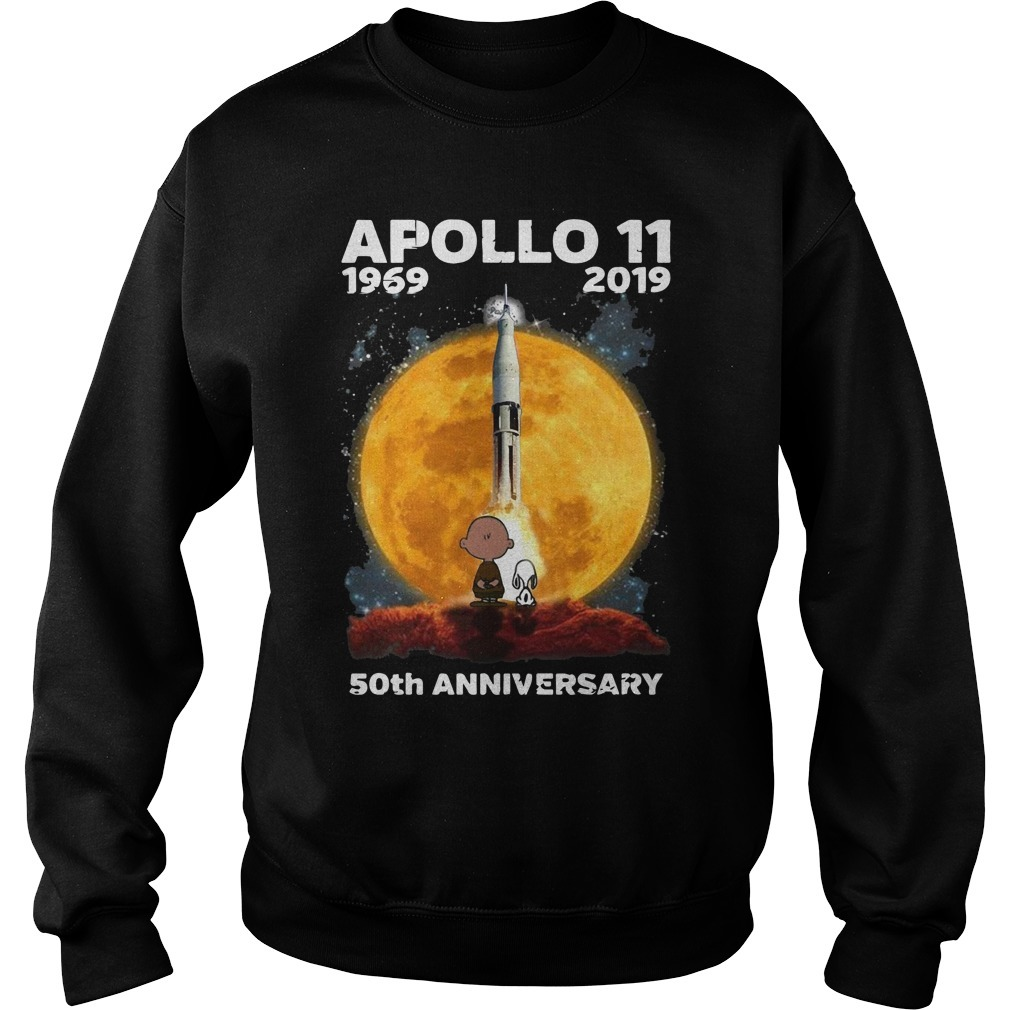 Charlie And Snoopy Apollo 11 1969 2019 50th Anniversary Sweater